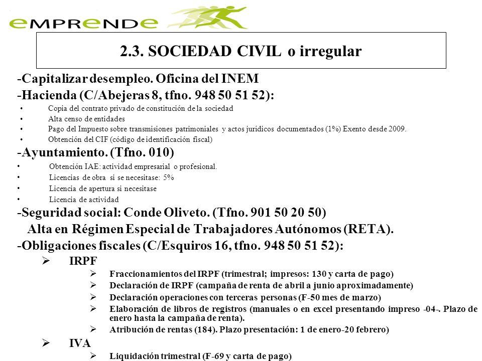 2.4.Empresa con personalidad jurídica -Notaría -Hacienda (C/Esquiroz 16, tfno.