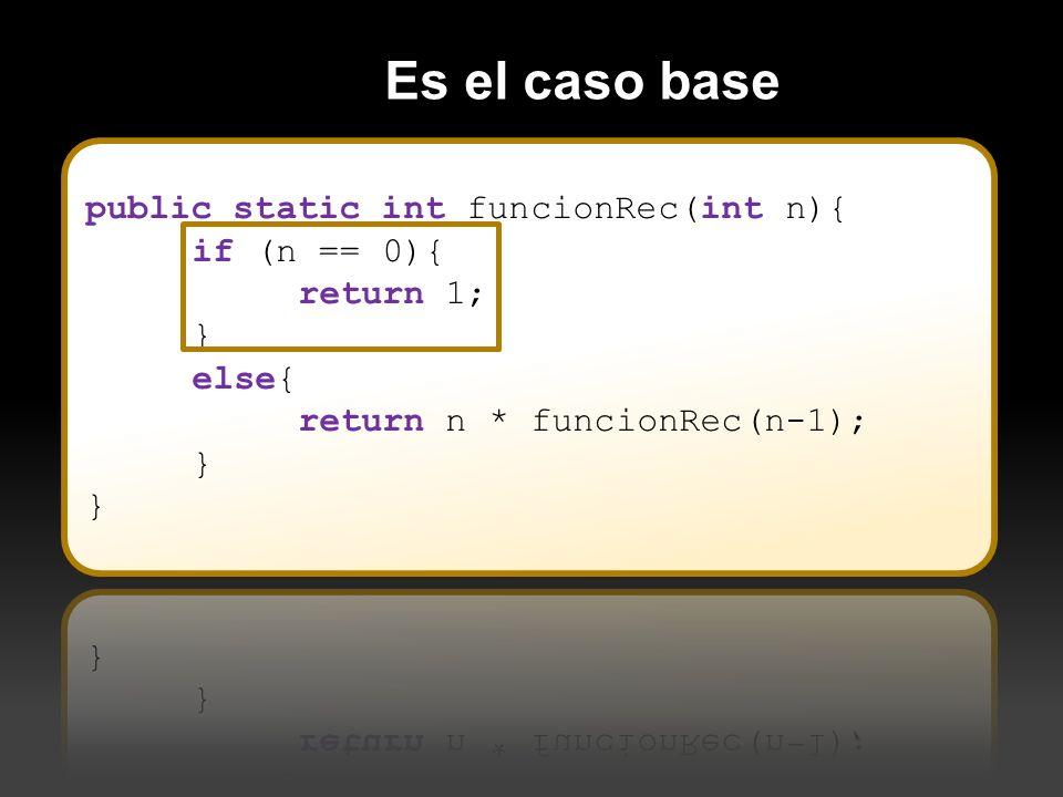 Que en cada llamada recursiva se esté más cerca de cumplirse el Caso Base