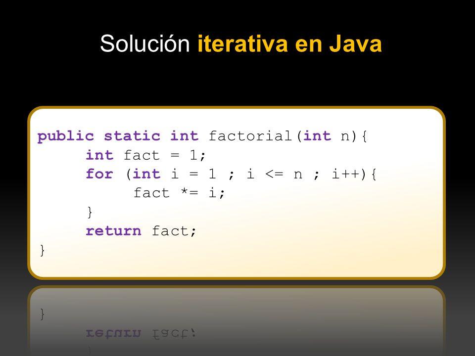 Solución iterativa en Java
