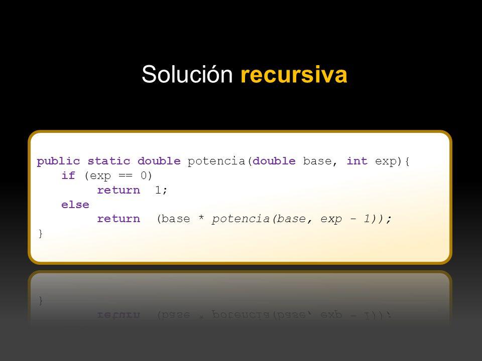 Solución recursiva