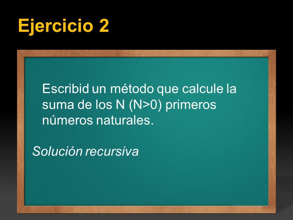 Ejercicio 2 Ejercicio: Escribir un programa que calcule todos los factoriales del 1 hasta el valor entero N que se introduce por teclado, el valor de