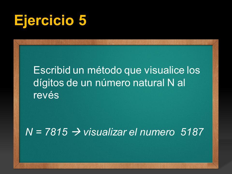 Ejercicio 5 Ejercicio: Escribir un programa que calcule todos los factoriales del 1 hasta el valor entero N que se introduce por teclado, el valor de