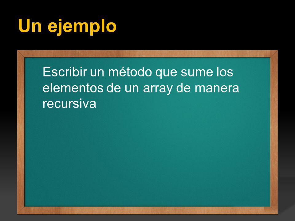 Un ejemplo Ejercicio: Escribir un programa que calcule todos los factoriales del 1 hasta el valor entero N que se introduce por teclado, el valor de N