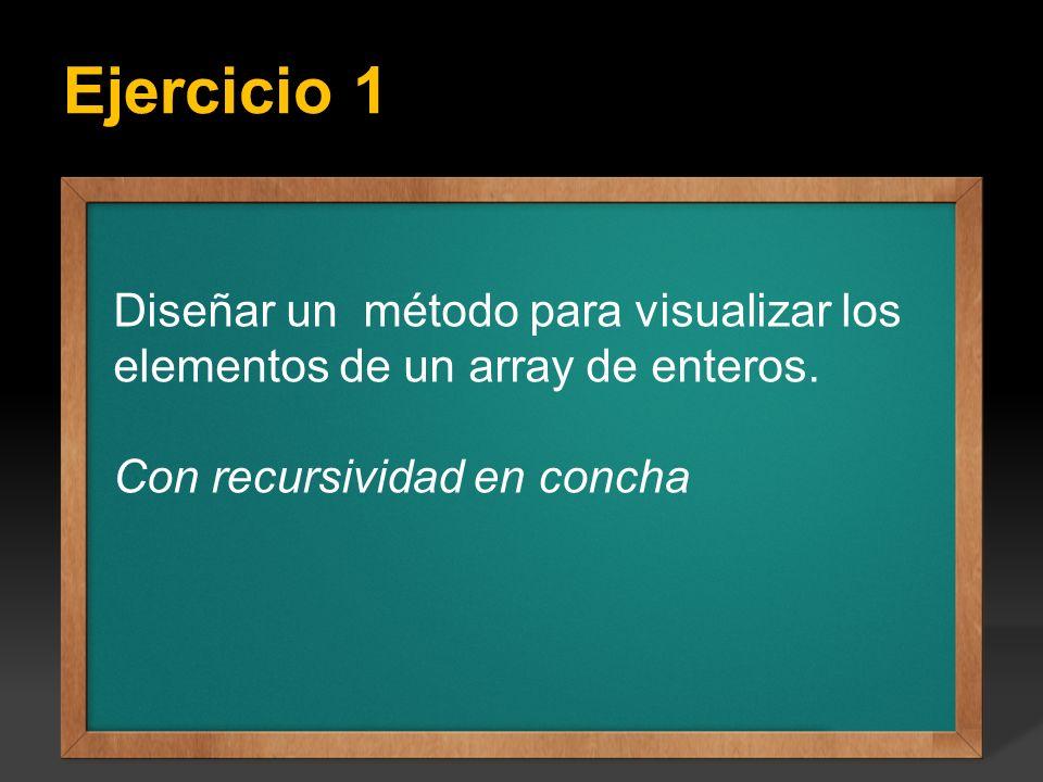 Ejercicio 1 Ejercicio: Escribir un programa que calcule todos los factoriales del 1 hasta el valor entero N que se introduce por teclado, el valor de
