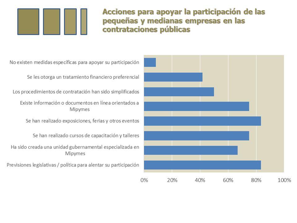 Acciones para apoyar la participación de las pequeñas y medianas empresas en las contrataciones públicas