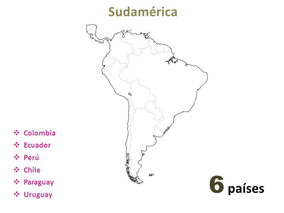 Sudamérica Colombia Ecuador Perú Chile Paraguay Uruguay 6 países