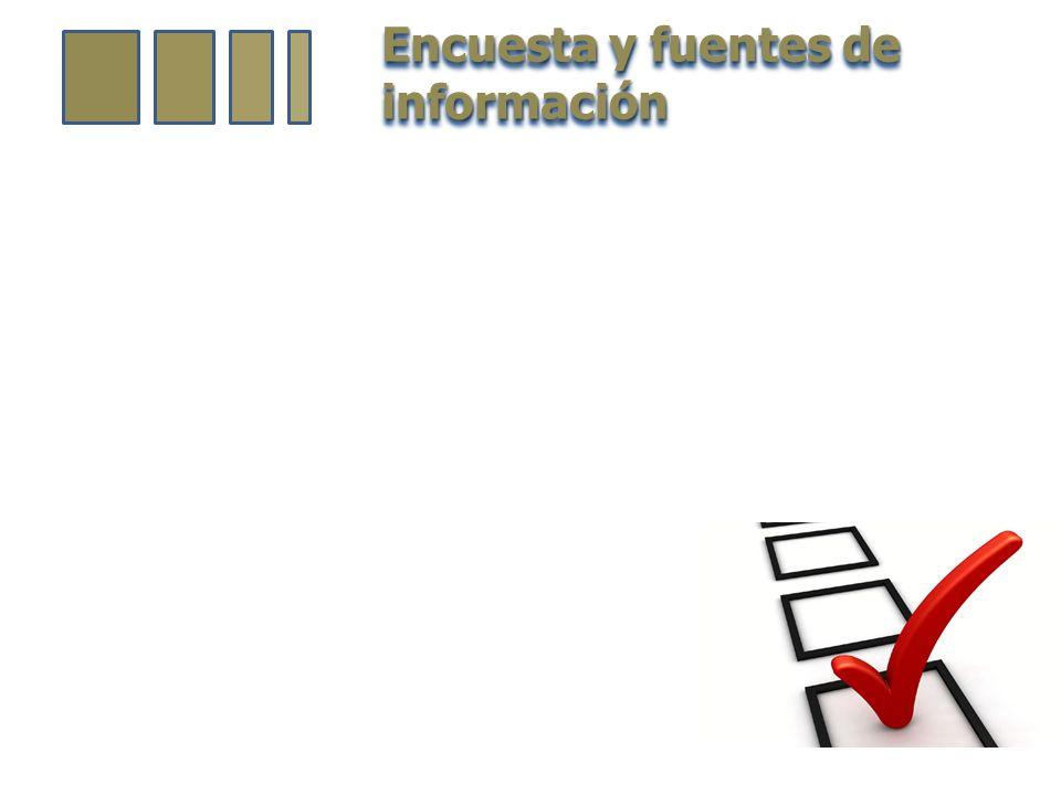 Encuesta y fuentes de información