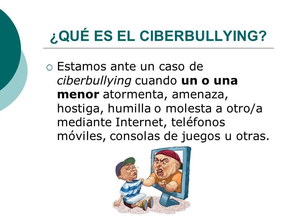 ¿QUÉ ES EL CIBERBULLYING.