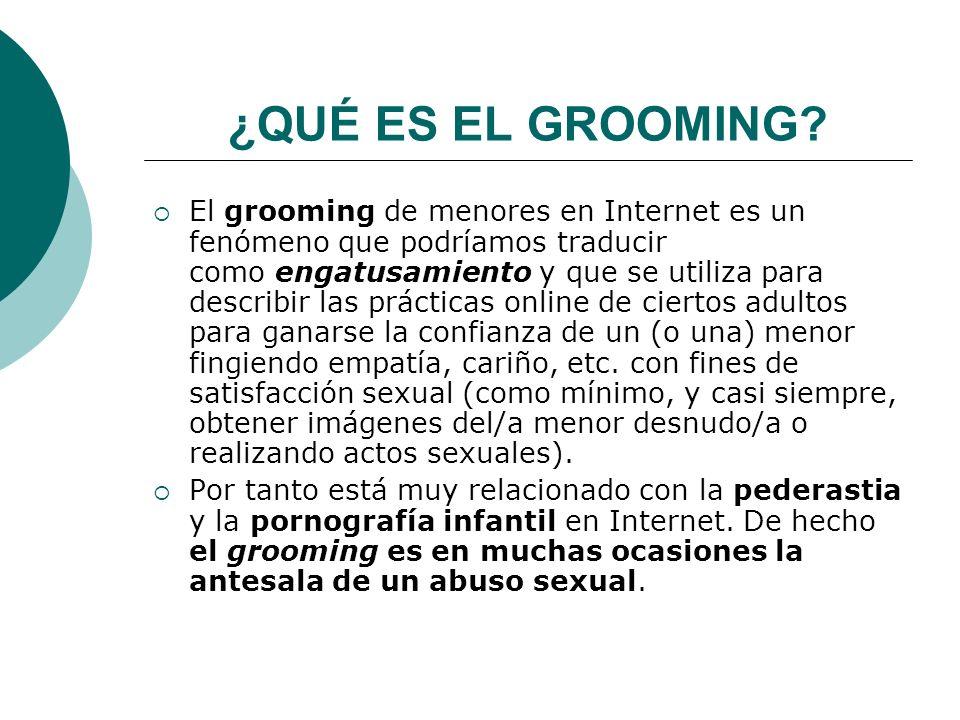 ¿QUÉ ES EL GROOMING.
