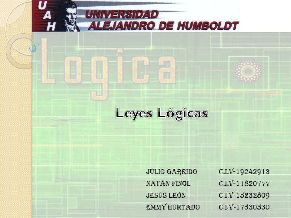 Julio GarridoC.I.V-19242913 Natán FinolC.I.V-11820777 Jesús LeónC.I.V-15232809 Emmy HurtadoC.I.V-17530530