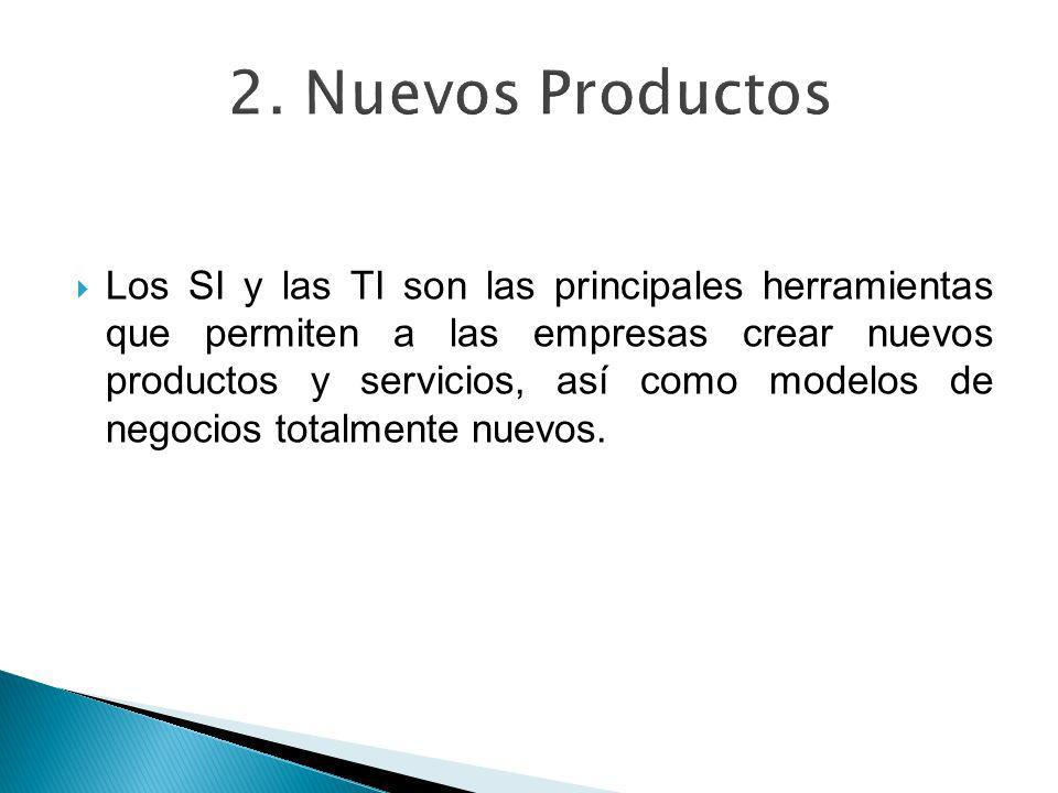 Los SI y las TI son las principales herramientas que permiten a las empresas crear nuevos productos y servicios, así como modelos de negocios totalmen