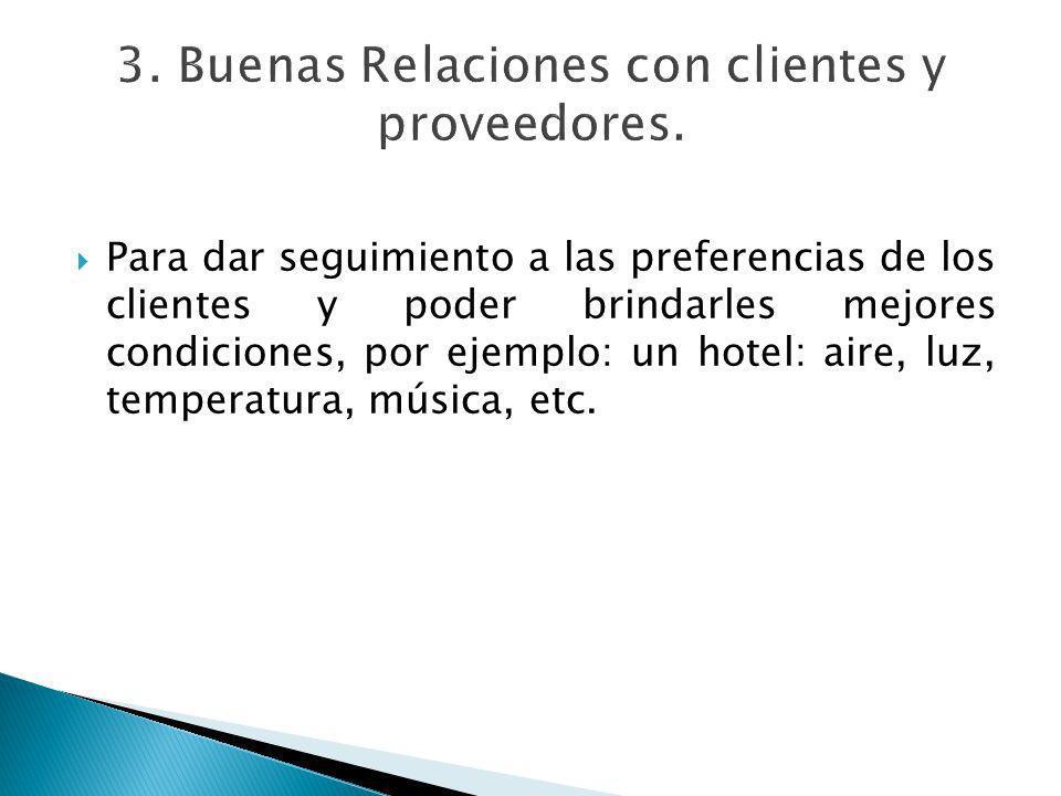 Para dar seguimiento a las preferencias de los clientes y poder brindarles mejores condiciones, por ejemplo: un hotel: aire, luz, temperatura, música,