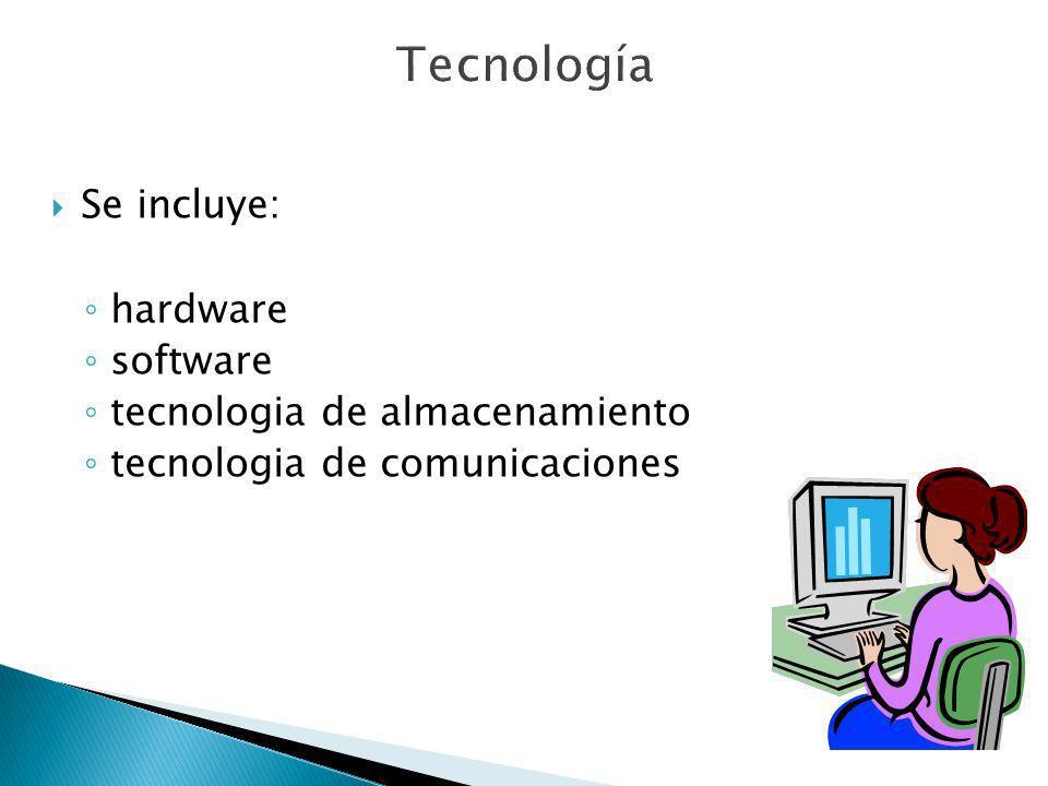Se incluye: hardware software tecnologia de almacenamiento tecnologia de comunicaciones