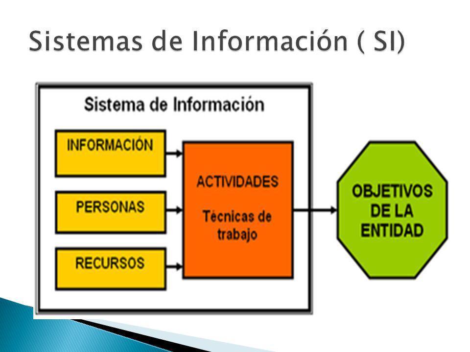 AL SISTEMA INFORMÁTICO LO CONFORMAN : BASES DE DATOS DOCUMENTOS PERSONAS HARDWARE SOFTWARE