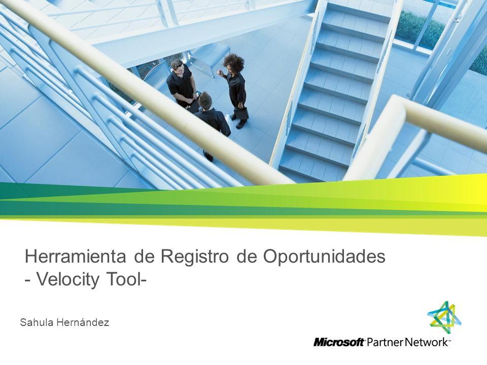 Herramienta de Registro de Oportunidades - Velocity Tool- Sahula Hernández