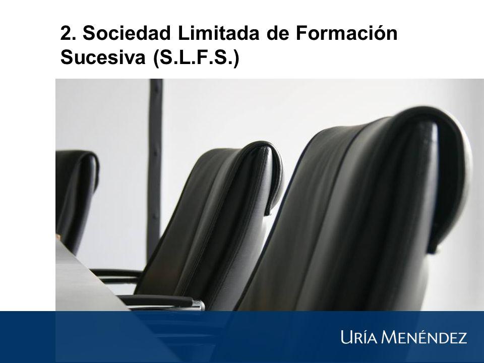 2. Sociedad Limitada de Formación Sucesiva (S.L.F.S.)