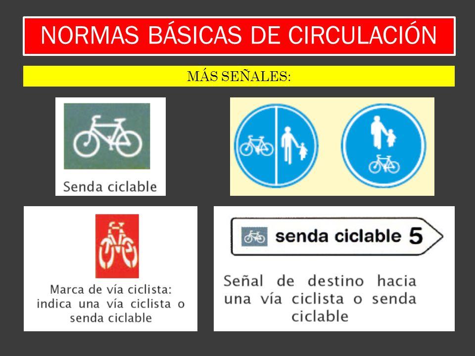 NORMAS BÁSICAS DE CIRCULACIÓN MÁS SEÑALES:
