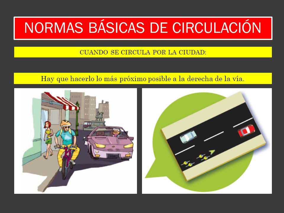 NORMAS BÁSICAS DE CIRCULACIÓN GIRO A LA IZQUIERDA: SI LA VÍA INTERURBANA NO DISPONE DE UN CARRIL ACONDICIONADO.