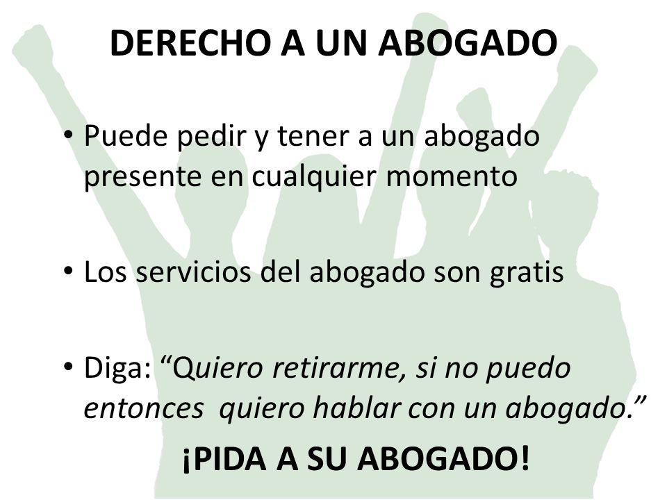 SER LIBRE DE CATEOS Y CONFISCACIONES IRRAZONABLES (4ta Enmienda) Indicaciones especificas.