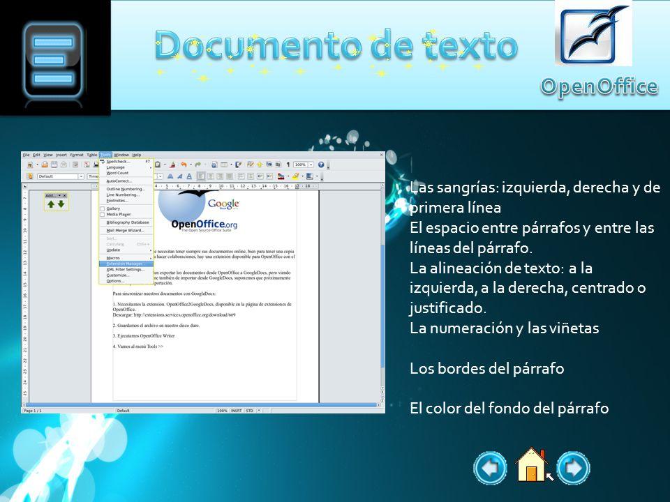 El documento de texto te ofrece desde las opciones mas básicas, por ejemplo Guardar, copiar, pegar, cortar, nuevo, e incluso una opción para abrir un documento de dibujo, presentación, hoja de calculo etc.