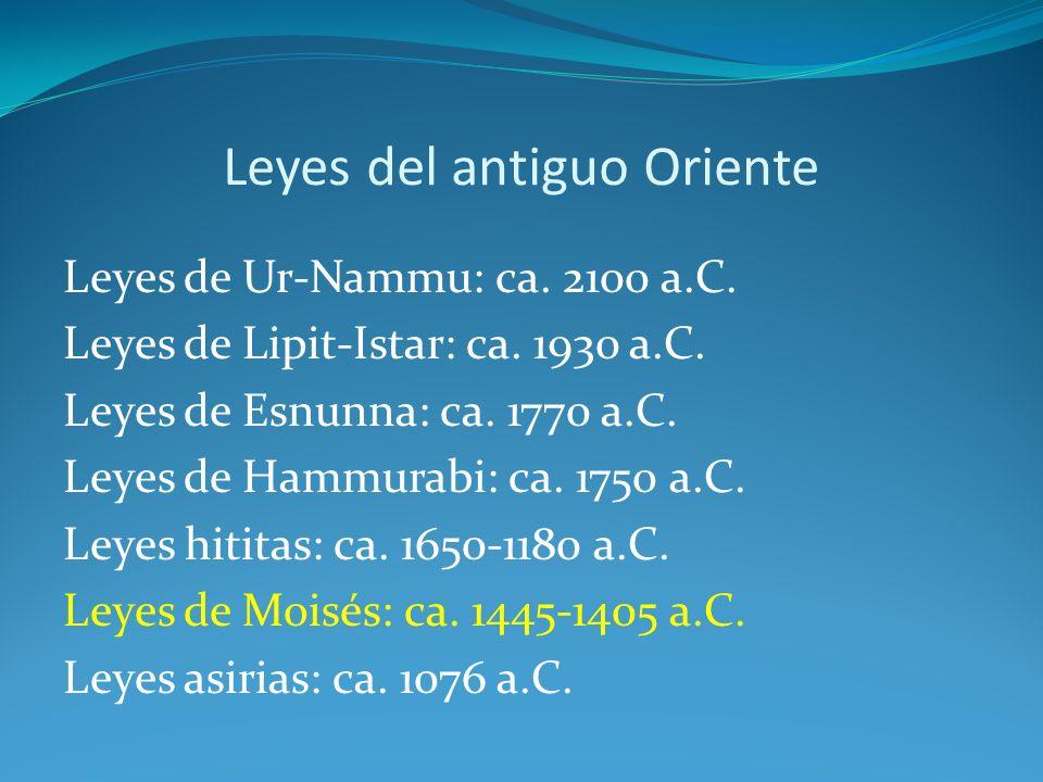 Las colecciones de leyes cuneiformes Leyes de Ur-Nammu Idioma: Sumerio Fecha: ca.
