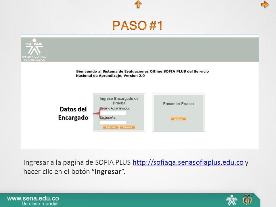 Ingresar a la pagina de SOFIA PLUS http://sofiaqa.senasofiaplus.edu.co y hacer clic en el botón Ingresar.http://sofiaqa.senasofiaplus.edu.co Datos del