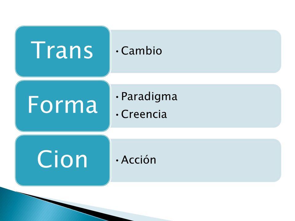 Cambio Trans Paradigma Creencia Forma Acción Cion