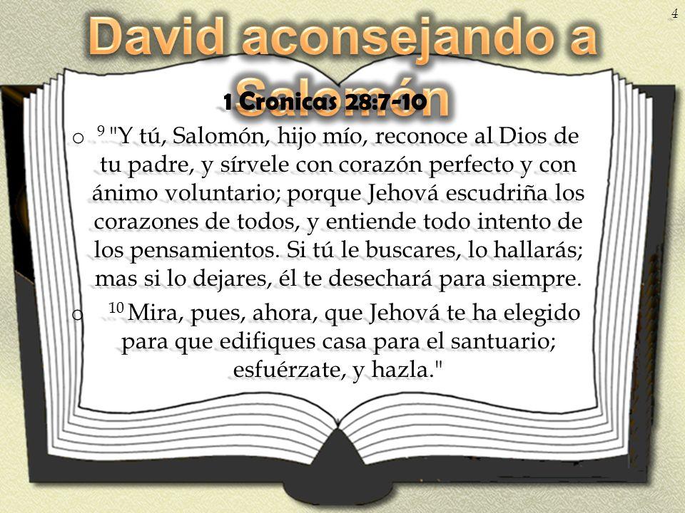 1 Cronicas 28:7-10 o 9