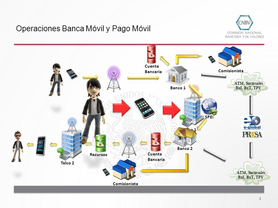 Cajero Automático TPV SucursalesCorresponsales Pago Móvil Banca Móvil Internet Cheques 1 2323 4 Niveles de Cuenta Medios y Canales de acceso y operación 15