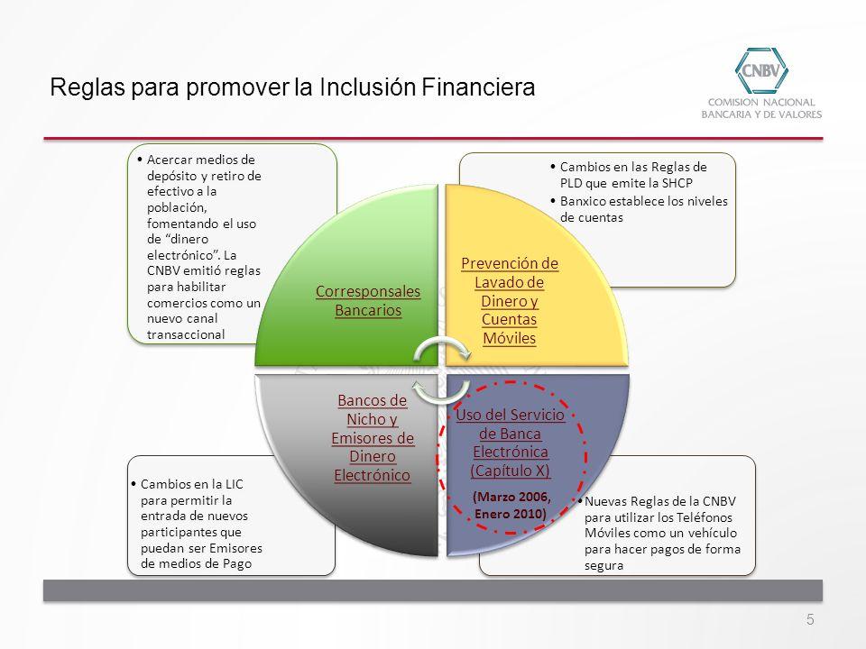Situación actual Servicios Financieros Móviles Institución / Entidad # Cuentas Saldo (pesos) Producto asociado a Pago Móvil Conexión Requerida 5,854,2292,313,006,411Cuenta ExpressServicio de Datos 647,17256,542,653SMS 76,4472,892,833SMS 6,5482,114,586MifonSMS 1,425737,630-SMS -- Cifras reportadas a junio 2013 Fuente: CNBV Portafolio de Información (R12 y R13) 16