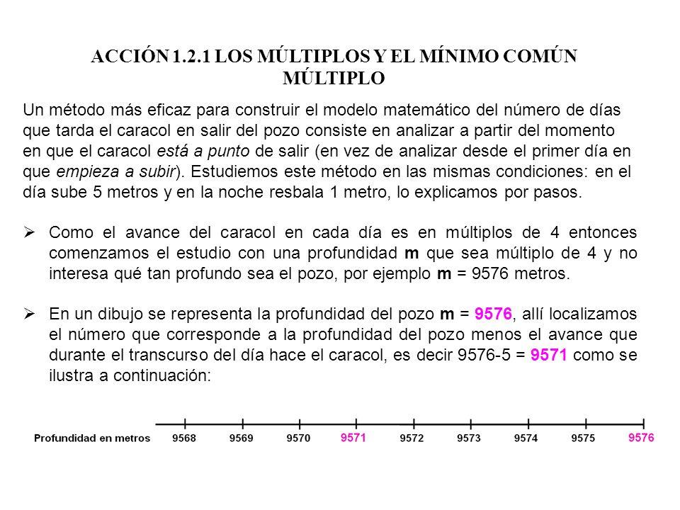 Un método más eficaz para construir el modelo matemático del número de días que tarda el caracol en salir del pozo consiste en analizar a partir del m