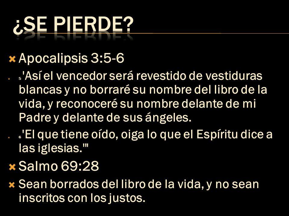 Apocalipsis 20:15 Y el que no se encontraba inscrito en el libro de la vida fue arrojado al lago de fuego.