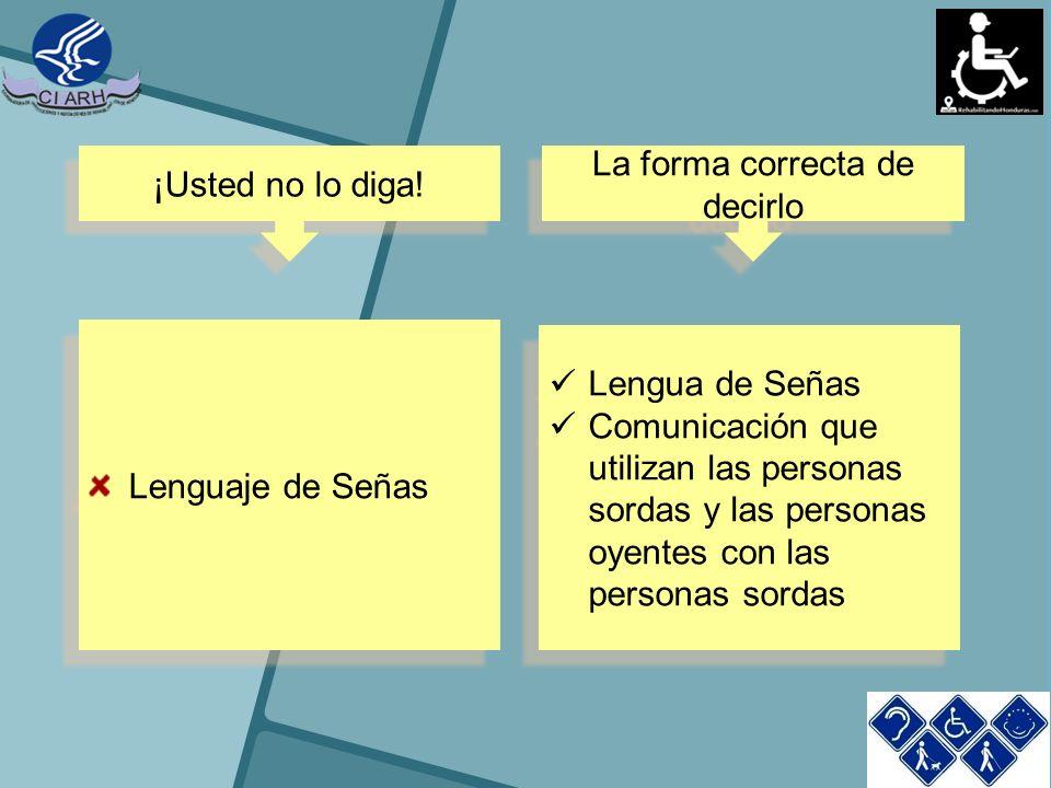 Lenguaje de Señas Lengua de Señas Comunicación que utilizan las personas sordas y las personas oyentes con las personas sordas Lengua de Señas Comunic