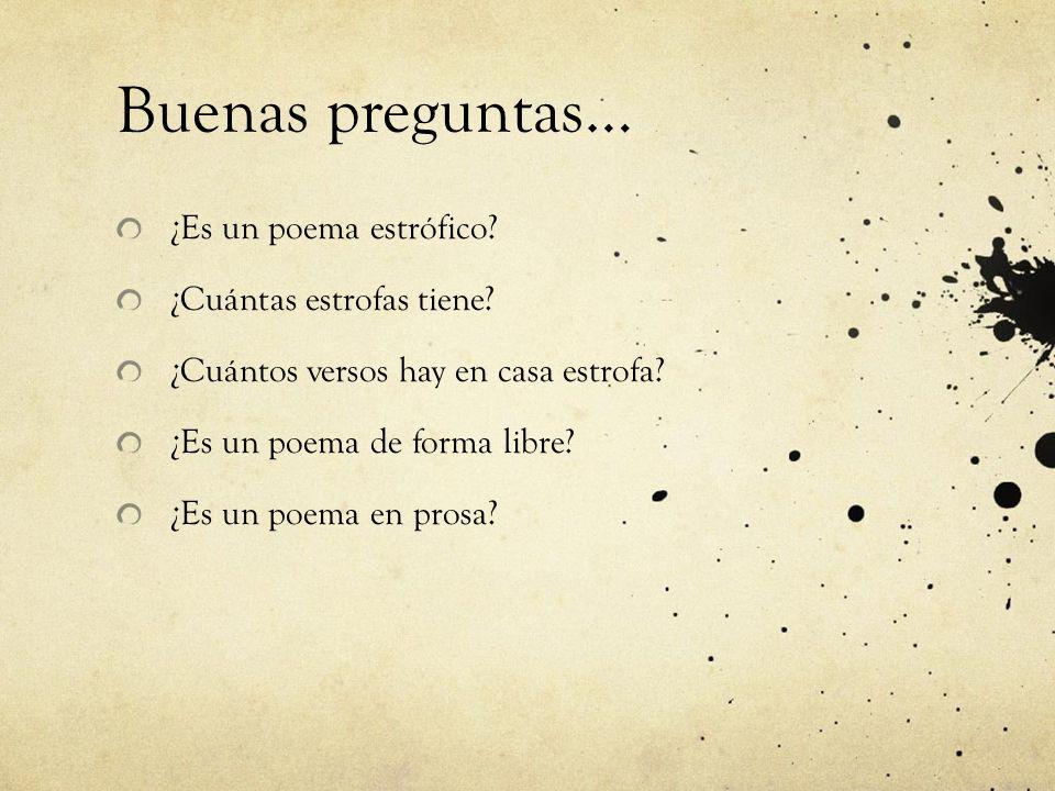 El tema del poema …o para explicar por qué el poeta escribió ese poema… ¿por el placer de contar una historia o hacer una descripción.