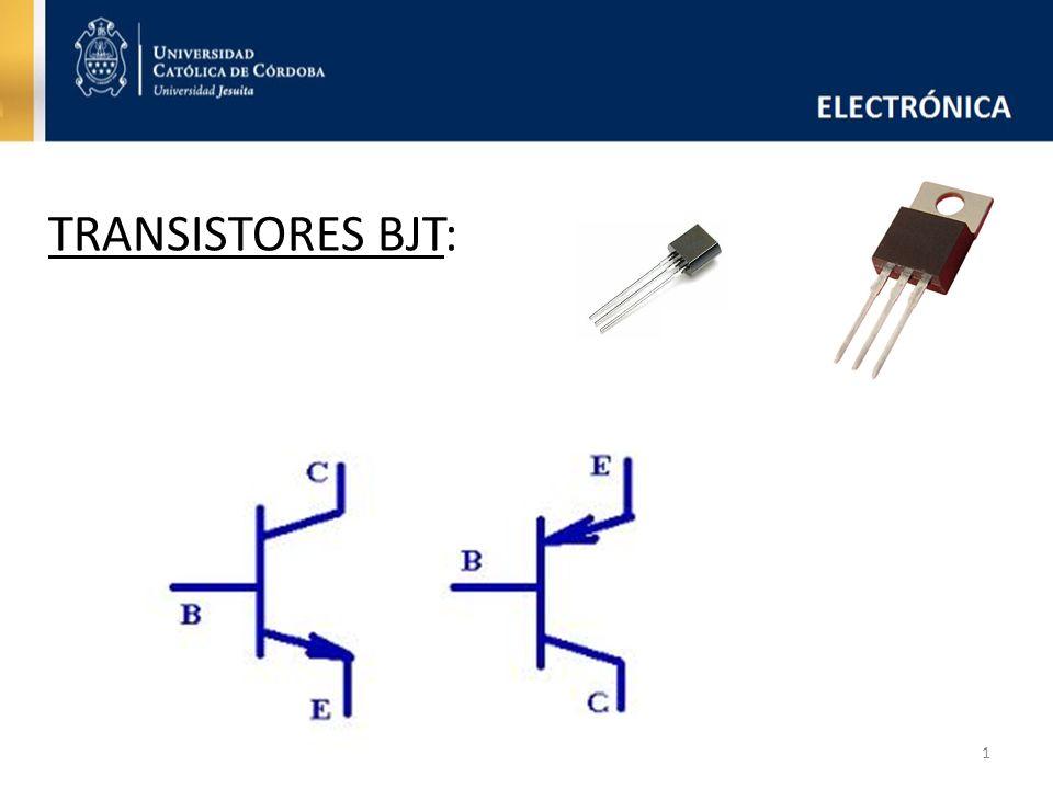 Transistor Bipolar: -Se constituye por junturas NPN o PNP, dando lugar a transistores NPN o transistores PNP -Usos más comunes: como LLAVE o como AMPLIFICADOR -Posee tres terminales denominados Emisor, Colector y Base.