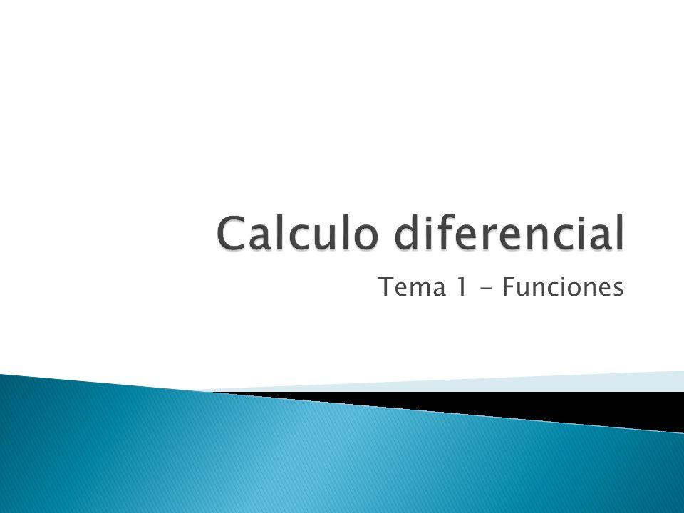 Tema 1 - Funciones
