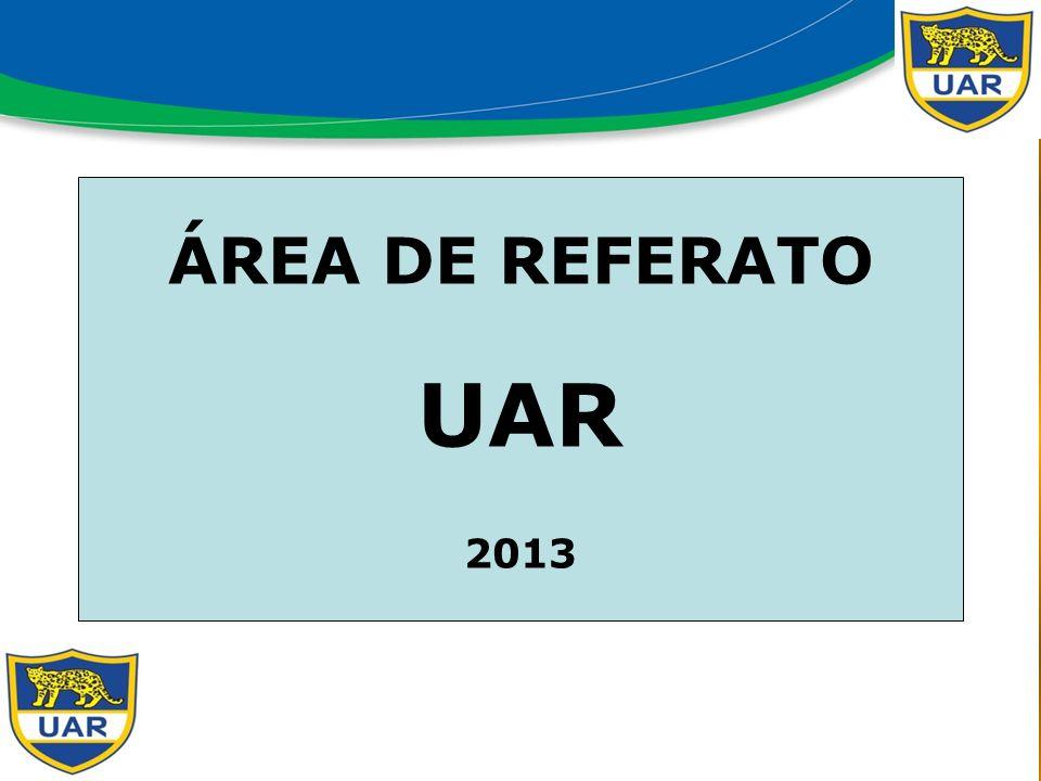 ÁREA DE REFERATO UAR 2013