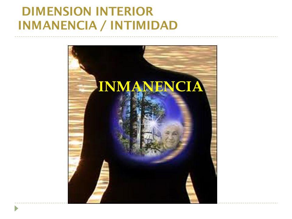 INMANENCIA DIMENSION INTERIOR INMANENCIA / INTIMIDAD