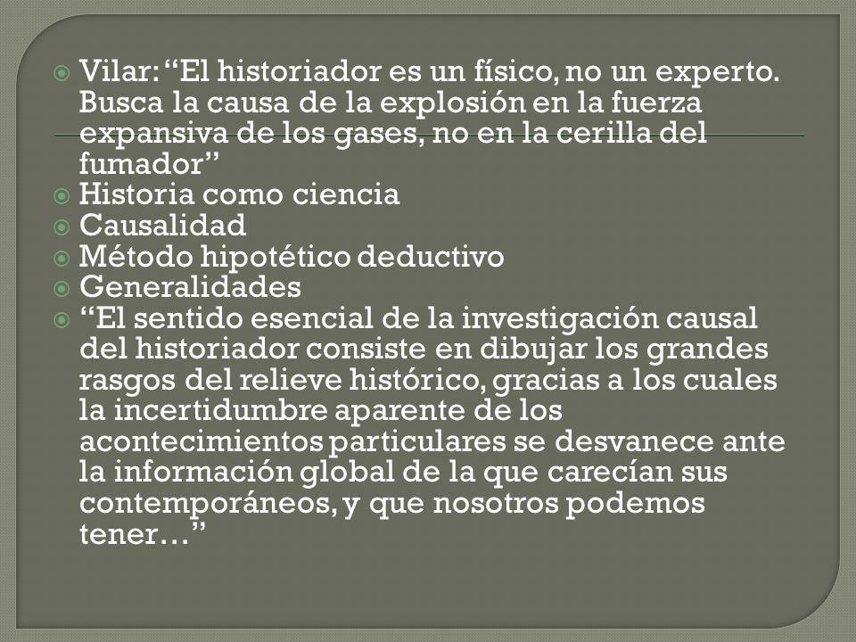 Vilar: El historiador es un físico, no un experto. Busca la causa de la explosión en la fuerza expansiva de los gases, no en la cerilla del fumador Hi
