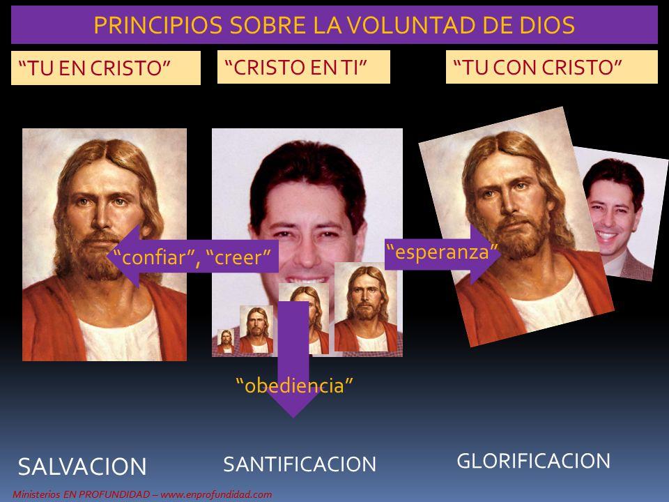 Ministerios EN PROFUNDIDAD – www.enprofundidad.com TU EN CRISTO CRISTO EN TITU CON CRISTO SALVACION SANTIFICACION GLORIFICACION Ministerios EN PROFUND