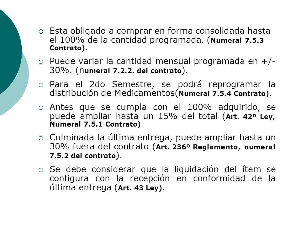 Esta obligado a comprar en forma consolidada hasta el 100% de la cantidad programada. ( Numeral 7.5.3 Contrato). Puede variar la cantidad mensual prog