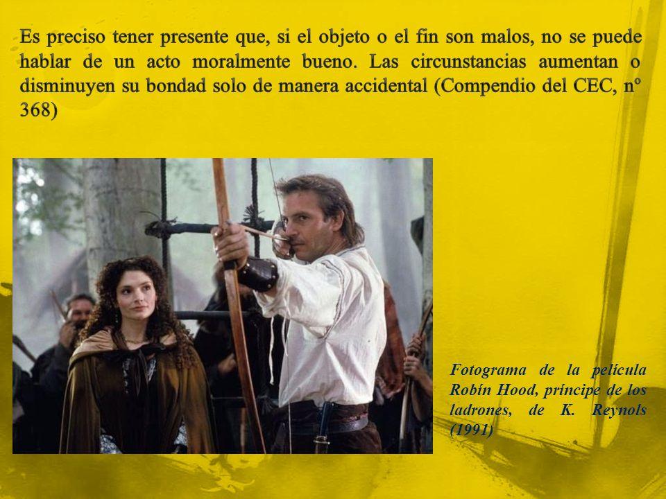 Fotograma de la película Robín Hood, príncipe de los ladrones, de K. Reynols (1991)