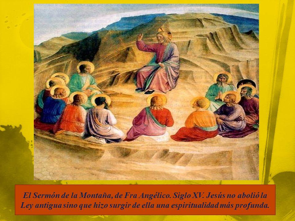 El Sermón de la Montaña, de Fra Angélico.Siglo XV.