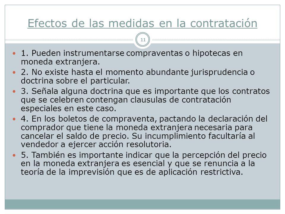 Efectos de las medidas en la contratación 11 1.