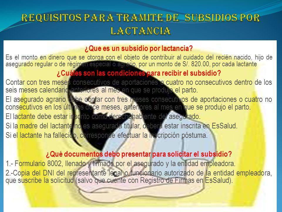 REQUISITOS PARA EL TRAMITE DEL SUBSIDIO POR MATERNIDAD ¿ Qué se entiende por subsidio por maternidad.