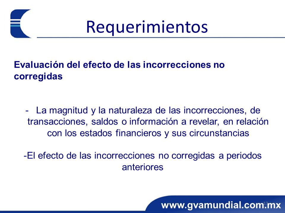 Evaluación del efecto de las incorrecciones no corregidas -La magnitud y la naturaleza de las incorrecciones, de transacciones, saldos o información a