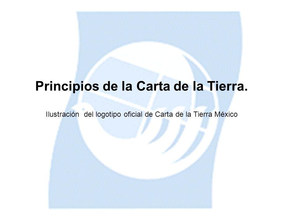 Principios de la Carta de la Tierra. Ilustración del logotipo oficial de Carta de la Tierra México