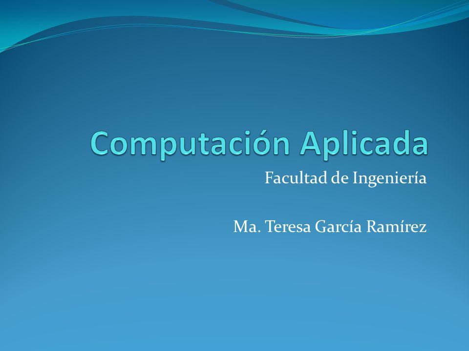 Facultad de Ingeniería Ma. Teresa García Ramírez