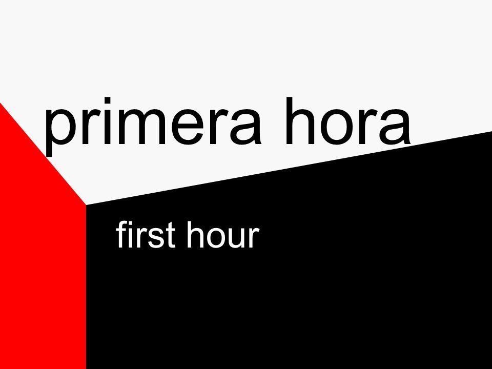 décima hora 10th hour