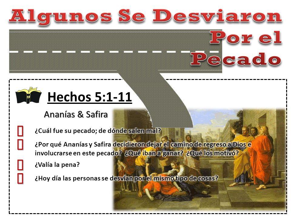 Hechos 5:1-11 Ananías & Safira